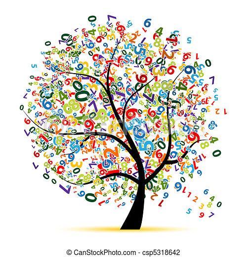 Digitalbaum für dein Design - csp5318642