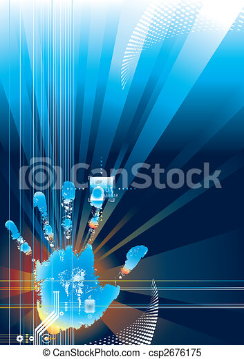 Digitaler Sicherheitsgriff - csp2676175