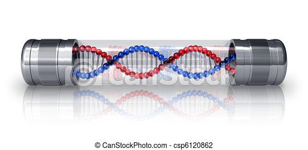 DNA-Molekül in der Hermetischen Kapsel - csp6120862