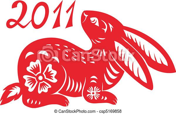 Ein chinesisches Tier im Kaninchenjahr. - csp5169858