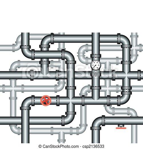 Ein Labyrinth aus Rohren. - csp2136533