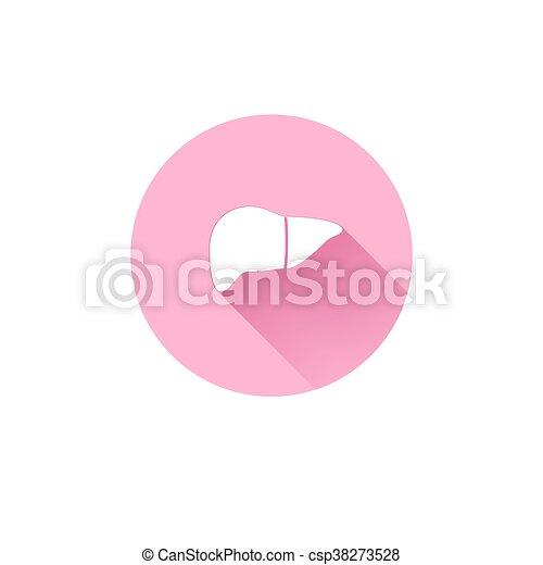 einfache , leber, ikone - csp38273528