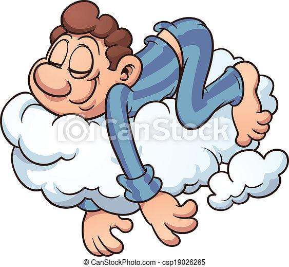 eingeschlafen, wolke - csp19026265