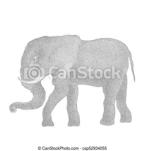 Elefant. Vector Illustration - csp52934055