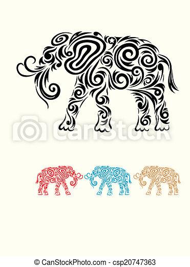 Elefantenflora. - csp20747363