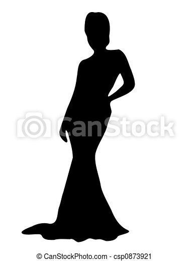 Elegante Lady Silhouette - csp0873921