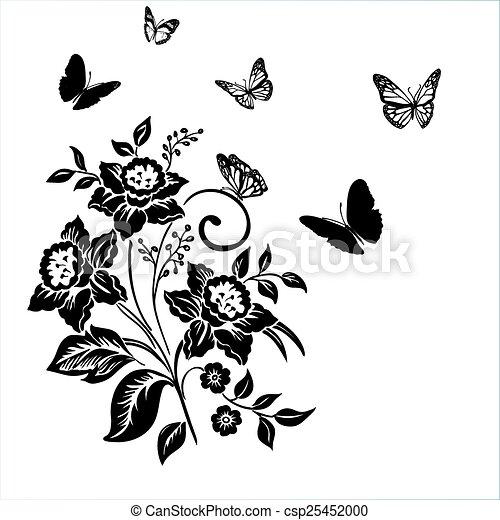 Eleganzmuster mit Blumenzwiebel. - csp25452000