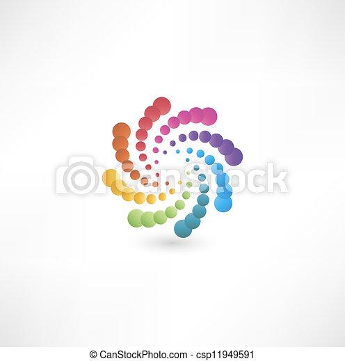 Elemente mit Spiralbewegungen entwerfen. - csp11949591