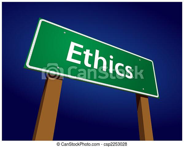 Ethics Green Road Zeichen Illustration - csp2253028