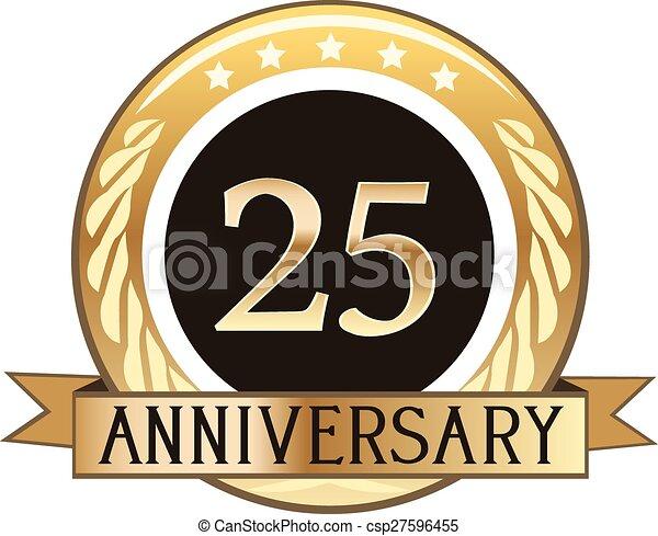 25 Jahre Jubiläumsmarke - csp27596455