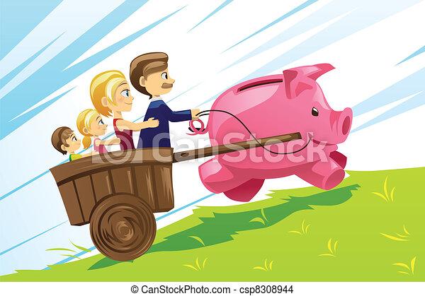 Familienfinanzkonzept - csp8308944