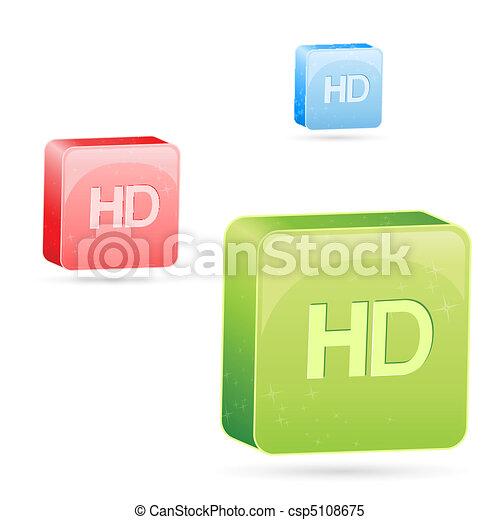 Farbige HD-Ikonen - csp5108675