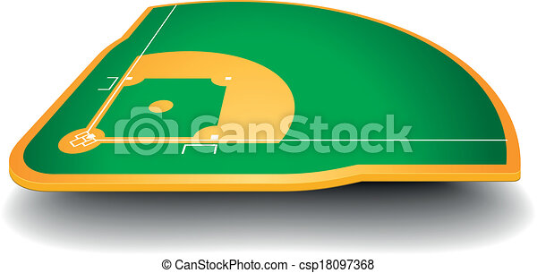 Baseballfeld mit Perspektive - csp18097368