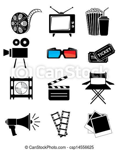 filmsatz, ikone - csp14556625