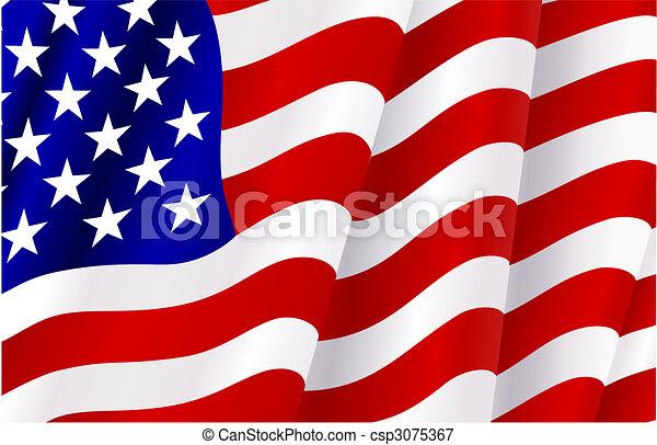 Flagge der Vereinigten Staaten von Amerika - csp3075367