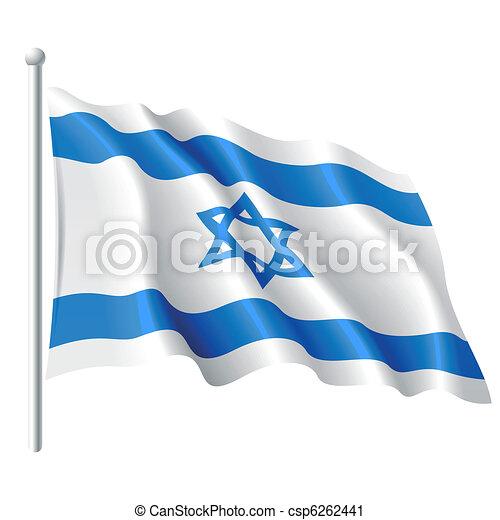 Flagge von Israel. - csp6262441
