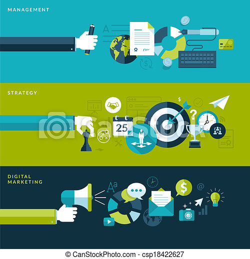Flat Design Konzepte für Unternehmen - csp18422627