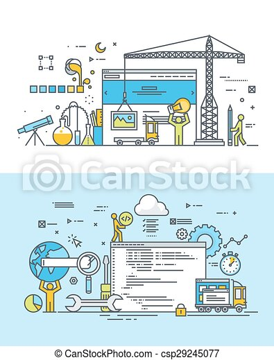 Flat-Konzepte für die Webentwicklung - csp29245077