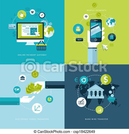 Flat-Konzepte für Online-Zahlung - csp18422649