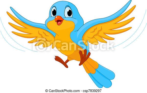 Fliegender Vogel - csp7839297