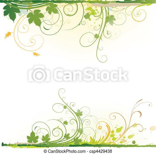 Floral dekorativer Hintergrund - csp4429438