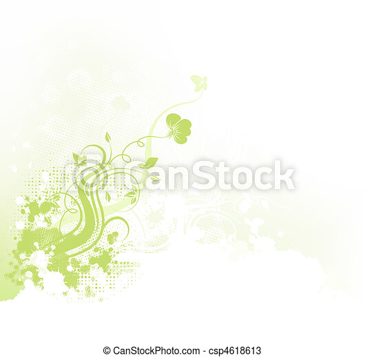 Floral Grunge Hintergrund - csp4618613