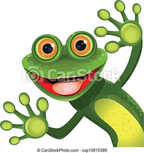 Fröhlichen grünen Frosch - csp10810389