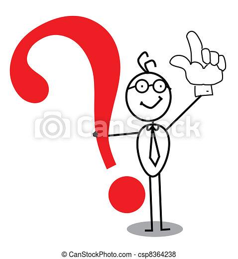 Fragezeichen für die geschäftliche Aufmerksamkeit - csp8364238