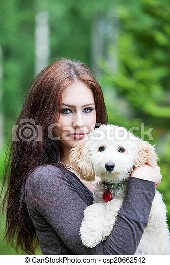 Hund frau Frau und