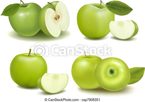 Frische grüne Äpfel - csp7908351