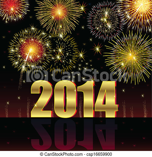 Frohes neues Jahr 2014 - csp16659900