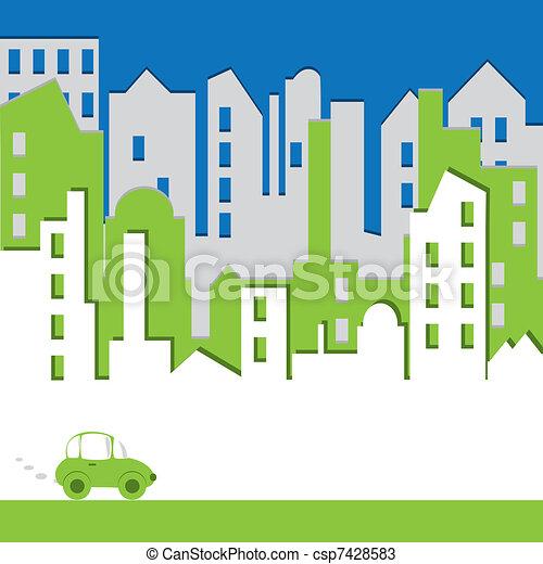 Cityscape. Gebäude abbrechen. Ein beneidenswertes Konzept - csp7428583