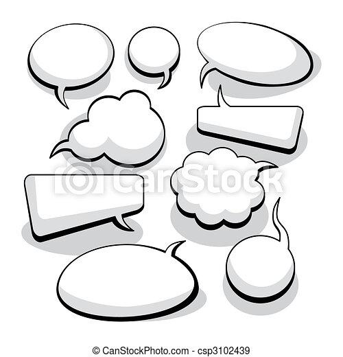 Rede und Gedankenblasen (vektor) - csp3102439