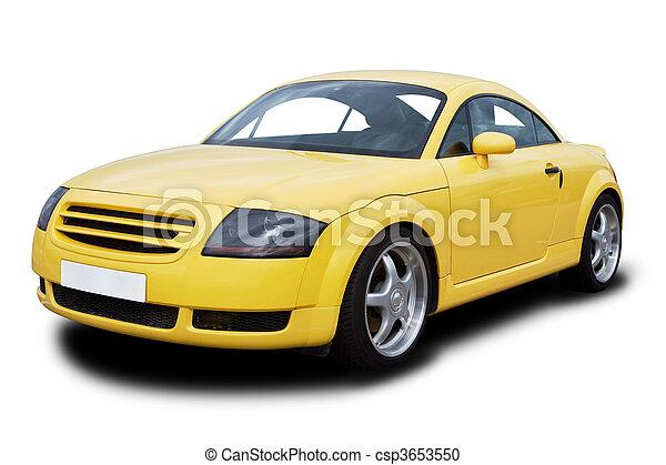 Gelber Sportwagen - csp3653550