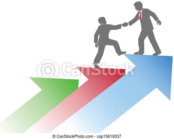 Geschäftsleute helfen dabei, Erfolg zu haben - csp15619337