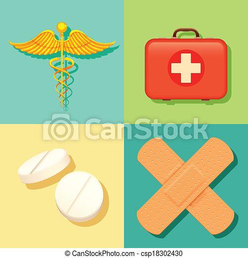 Gesundheit und medizinischer Hintergrund. - csp18302430