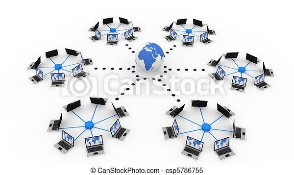 Globales Computernetzwerk - csp5786755