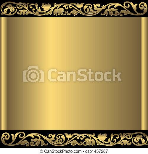 Goldener abstrakter Hintergrund (vektor) - csp1457287