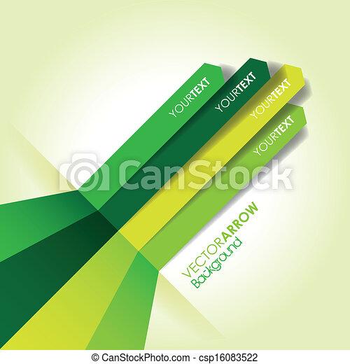 Grüne Pfeillinie. - csp16083522