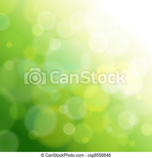 Grüner, abstrakter Licht Hintergrund. - csp8556648