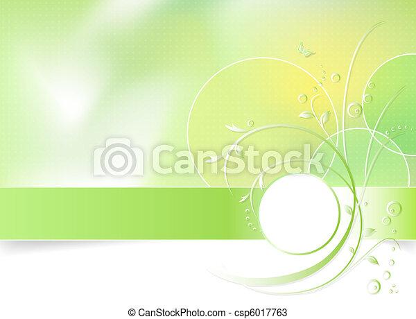 Grüner Blumen Hintergrund - csp6017763