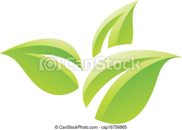 Grünes GIossy hinterlässt Icon - csp16756865