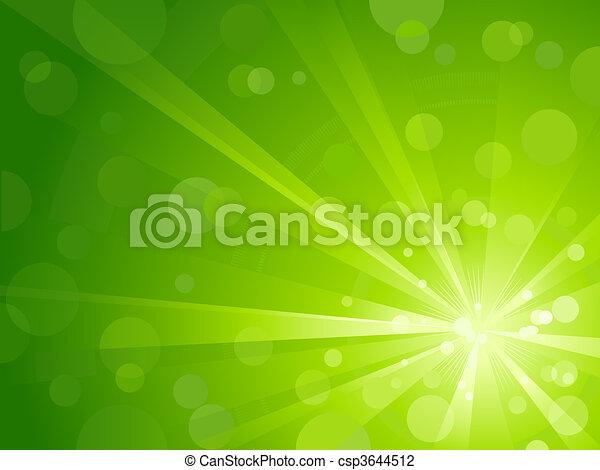 Grünes Licht platzte vor glänzendem Licht - csp3644512