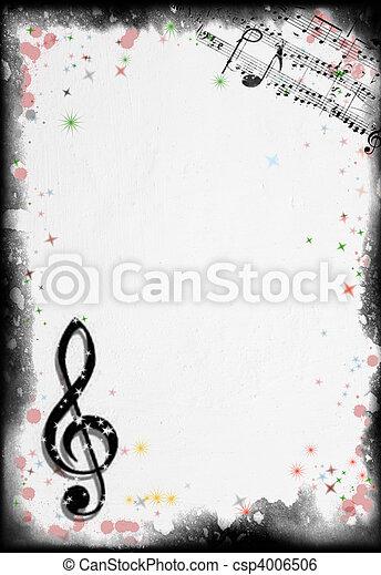 Grunge Musik Hintergrund - csp4006506
