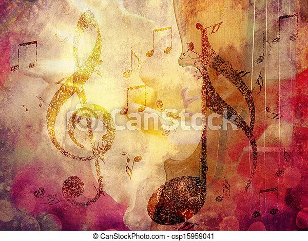 Grunge Musik Hintergrund - csp15959041