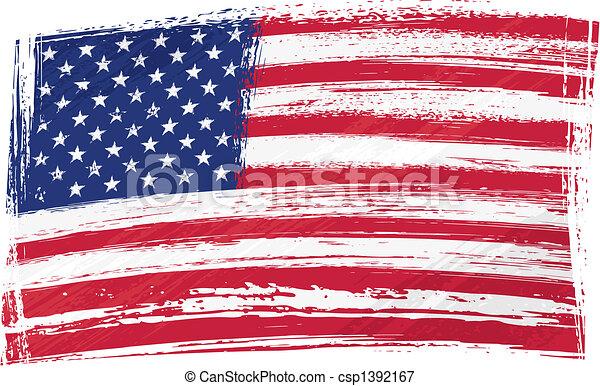 Grunge USA Flagge - csp1392167