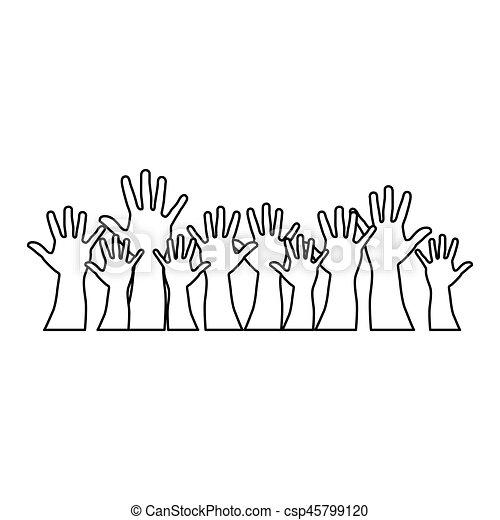 Die Leute halten sich zusammen - csp45799120