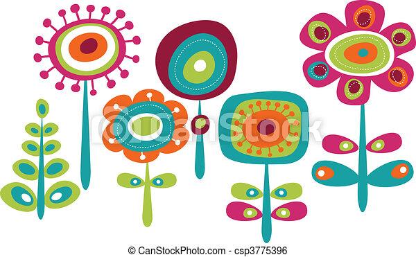Hübsche farbenfrohe Blumen - csp3775396