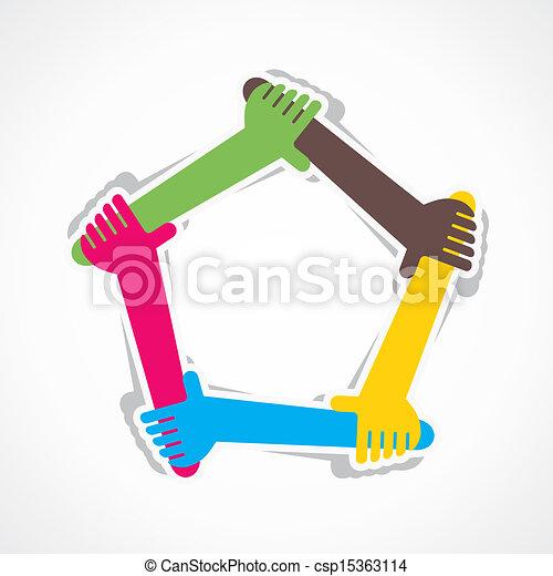 Hand Join Team-Arbeit oder Unterstützung jeder. - csp15363114