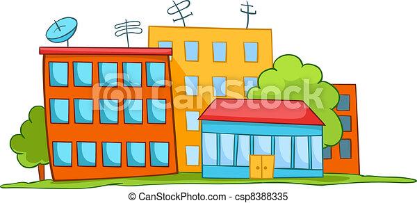 haus, karikatur - csp8388335